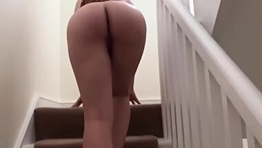Quick Cock Tease Showing of Step Mom Big Ass to Step Son Before Going Bed Dreaming Taboo Hard Fuck