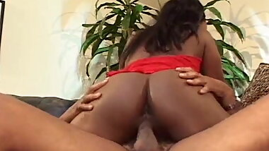 Horny Black Babe Rides Cock Like Mad