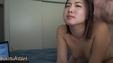 BIG ASS Asian camgirl gets a pov doggystyle fucking
